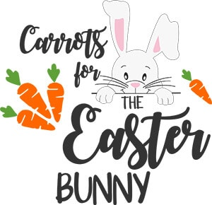 Carrots for the Easter Bunny Plate SVG Download