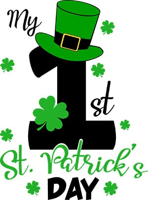 First St. Patrick's Day SVG