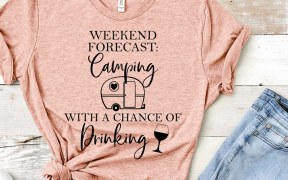 camping and drinking svg