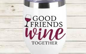 Good Friends Wine Together SVG