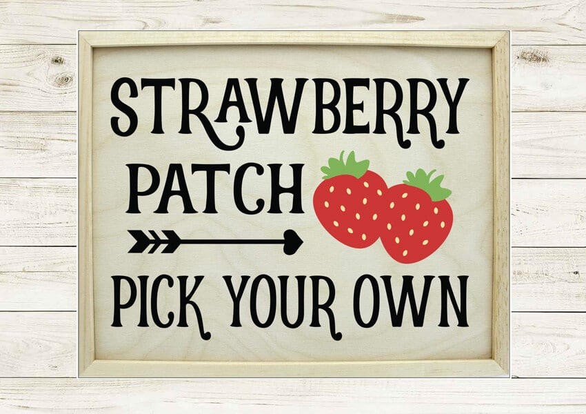 Strawberry Patch Sign