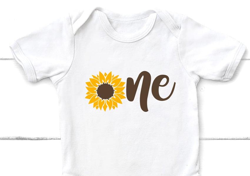Sunflower Onesie SVG File