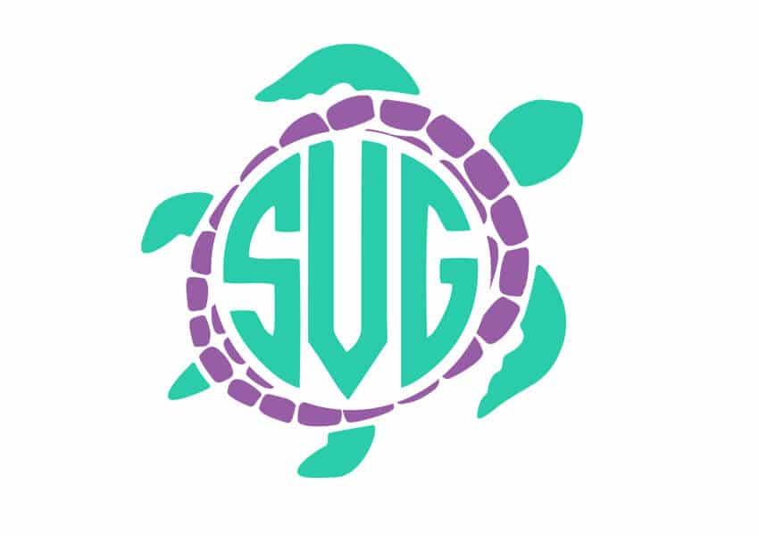 Turtle Monogram SVG File