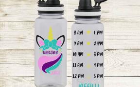 Unicorn Juice Water Bottle SVG