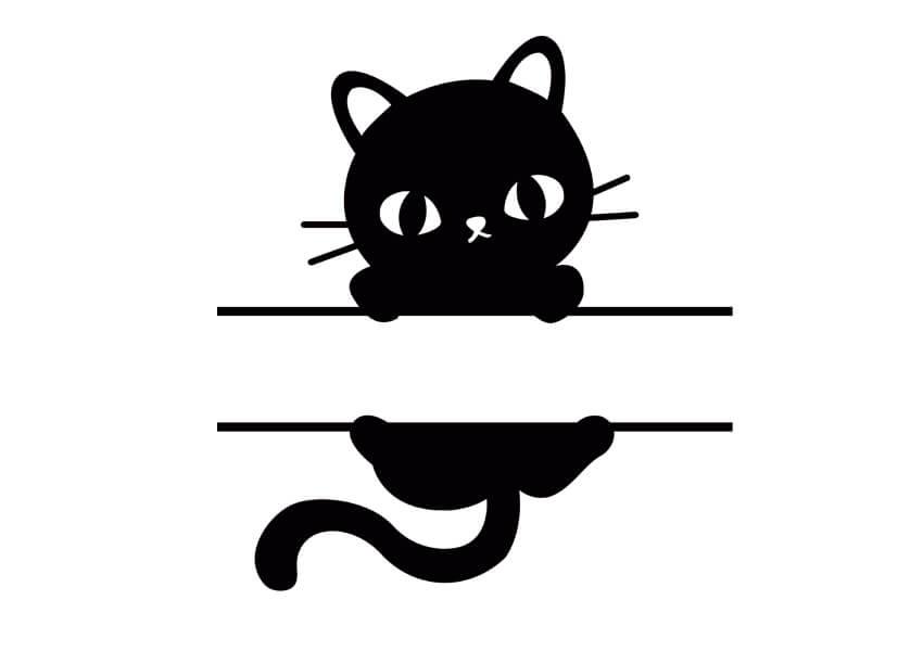Cat Monogram Free SVG