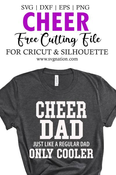Cheer Dad Free SVG Cut File