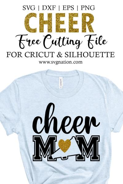 Cheer Mom Free SVG File