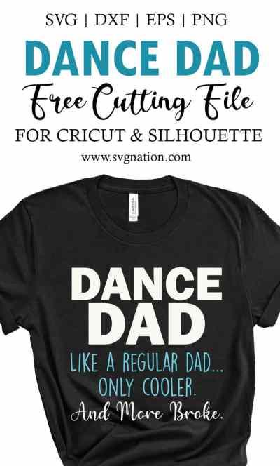 Dance Dad Free SVG Cut File