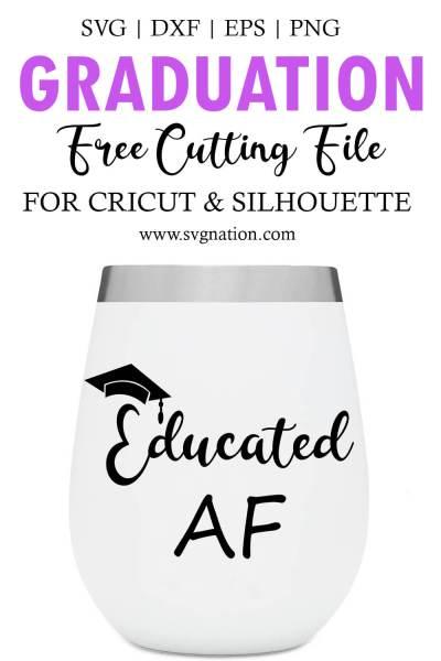 Educated AF SVG File