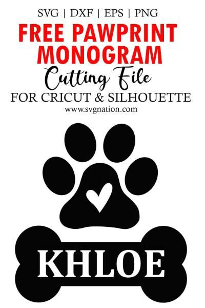 pawprint monogram svg