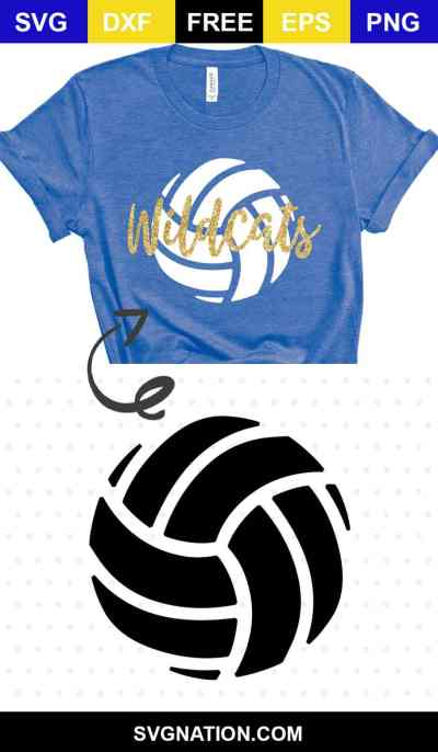 volleyball svg free cut file