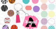free round acrylic keychain svg
