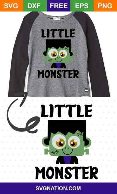 Little Monster Free SVG