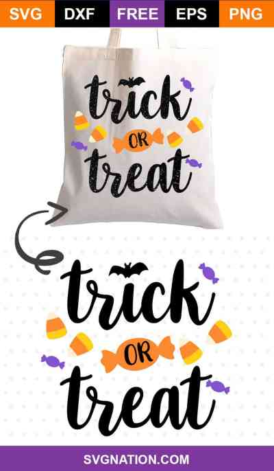 Trick or Treat Free SVG File
