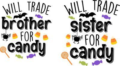 will trade sister for candy free Halloween svg