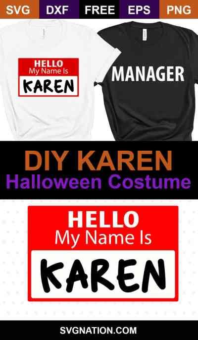 DIY Karen Halloween Costume SVG
