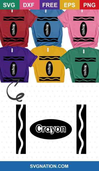 DIY Group Crayon Halloween Costume SVG
