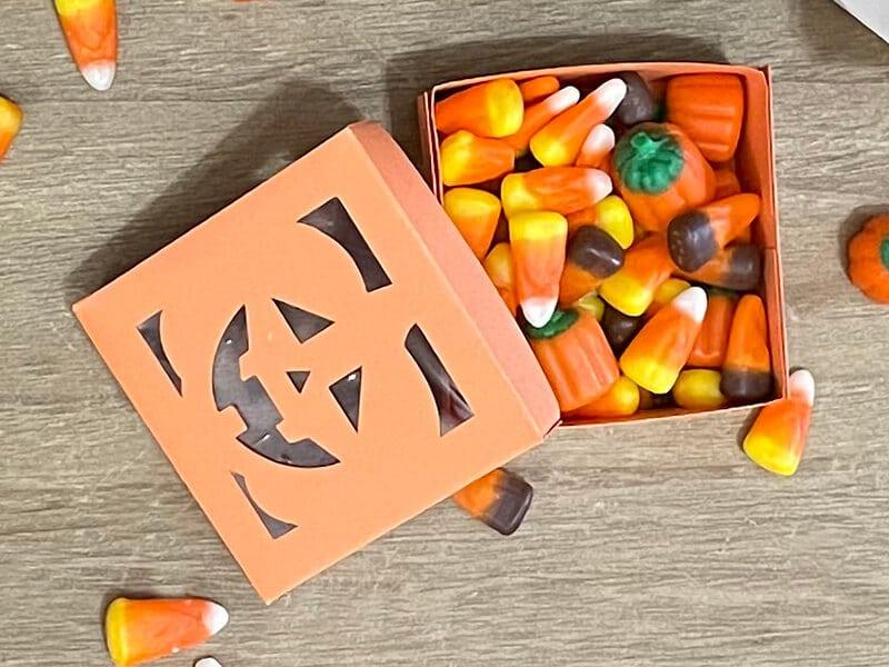 DIY Pumpkin Halloween Treat Box