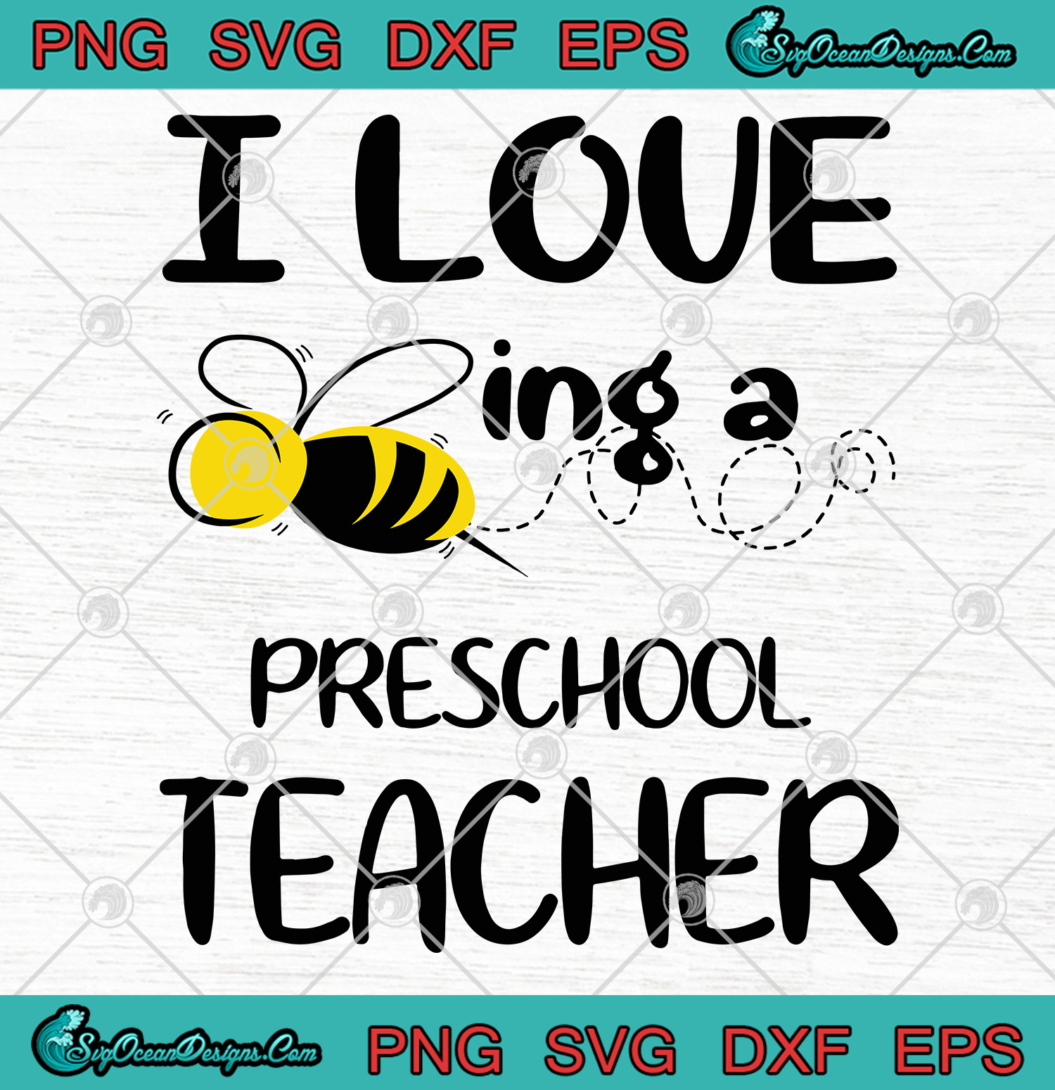 Download I Love Being a Preschool Teacher SVG PNG EPS DXF -School ...