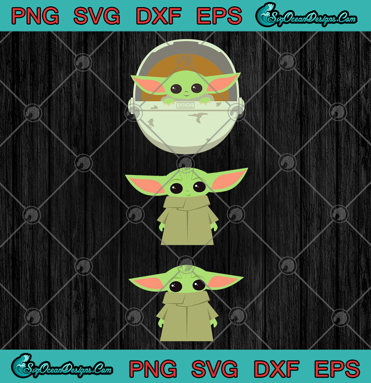Star Wars The Mandalorian The Child Cartoon Poses Svg Png Eps Dxf Baby Yoda Svg Designs Digital Download