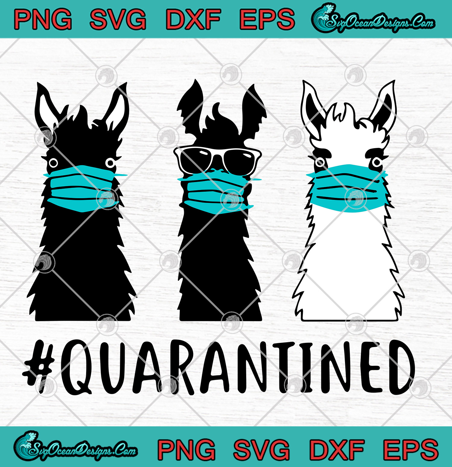 Llama Face Mask Quarantined Svg Png Eps Dxf Covid 19 Coronavirus Quarantine 2020 Coronavirus Cutting File Cricut Silhouette Art Designs Digital Download