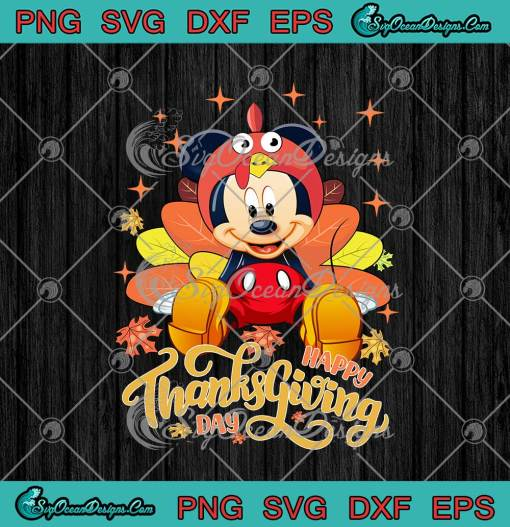 Mickey Mouse Happy Thanksgiving Day png