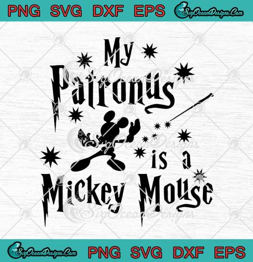 My Patronus Is A Mickey Mouse Harry Potter svg cricut