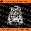 Monkey Astronaut SVG