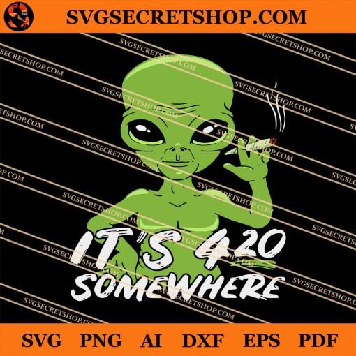 Alien Weed SVG