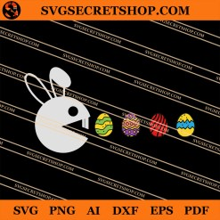 Bunny Hunting Easter Eggs SVG