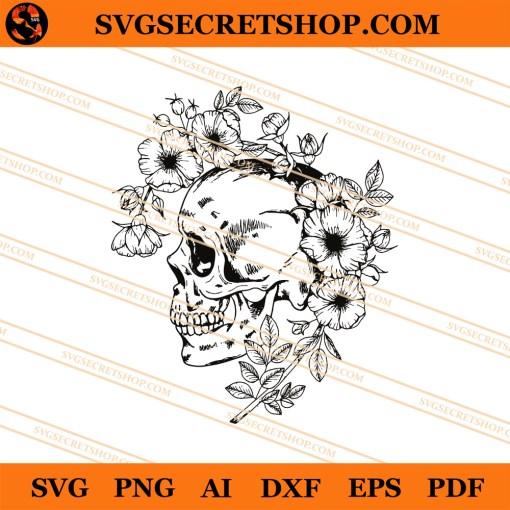 Skull Flower SVG