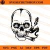 Skull Smoking Weed SVG