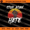 Stop Asian Hate Hand Up SVG