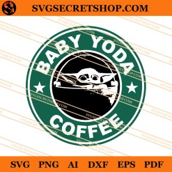 Baby Yoda Coffee SVG