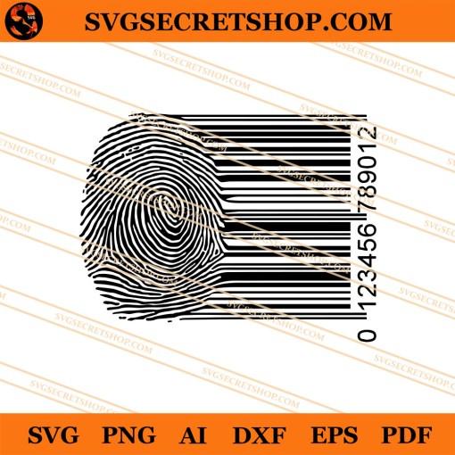 Fingerprint Barcode SVG