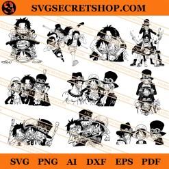 Luffy Ace Sabo Bundle SVG