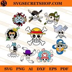 Straw Hat Pirate Flag Logo SVG