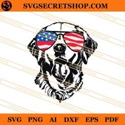4th Of July Golden retriever SVG