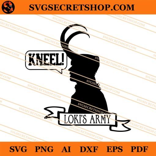 Kneel Loki Army SVG