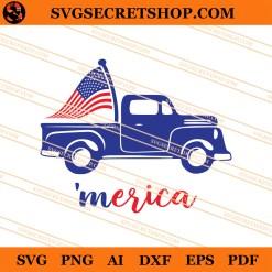 Merica Truck SVG
