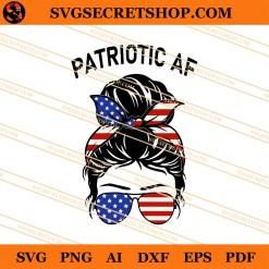 Patriotic AF American Girl SVG