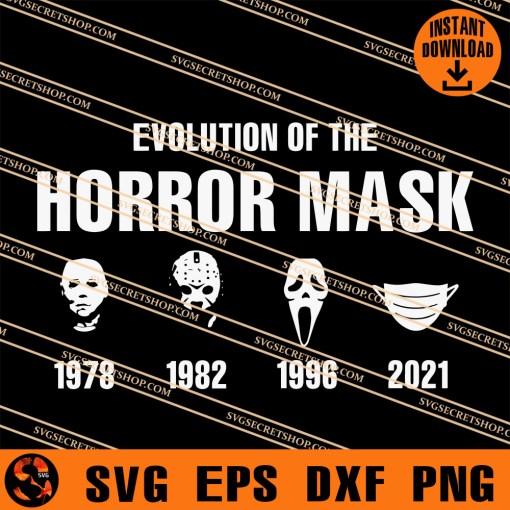 Evolution Of The Horror Mask SVG