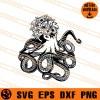 Floral Octopus SVG
