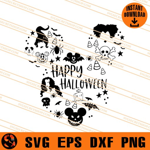 Happy Halloween Disney SVG