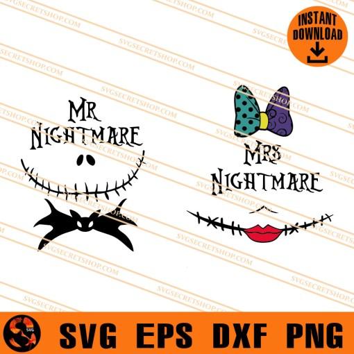 Mr Nightmare Mrs Nightmare SVG