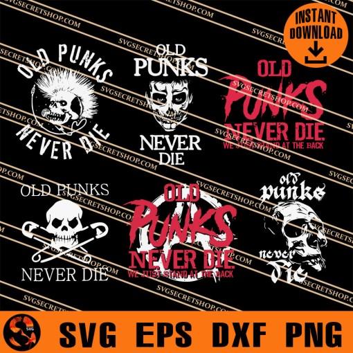 Old Punks Never Die SVG