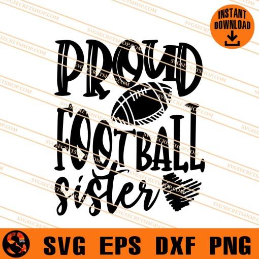 Proud Football sister SVG