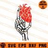 Skeleton Holding Heart SVG