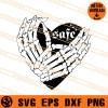 Skeleton Safe Heart Hands SVG