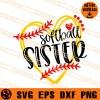 Softball Sister SVG